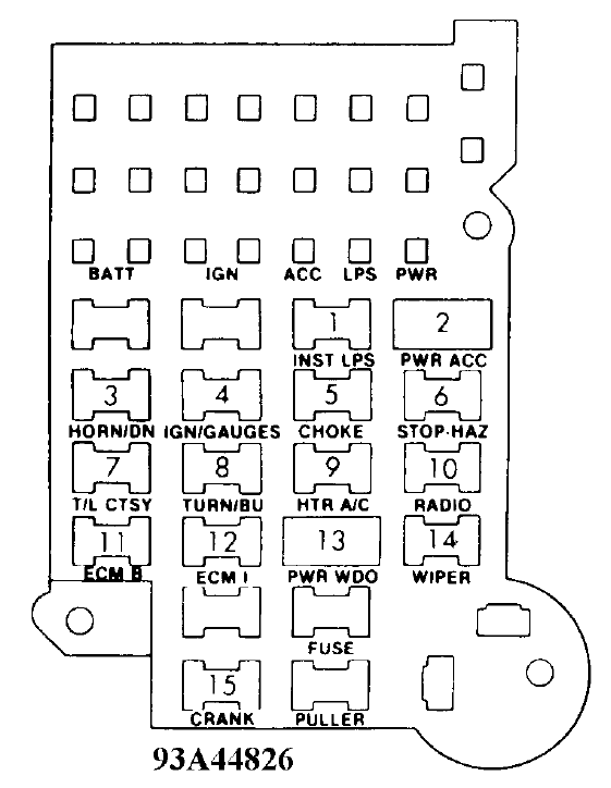 fuse panel box diagram needed for 84 c20 | diesel place  diesel place