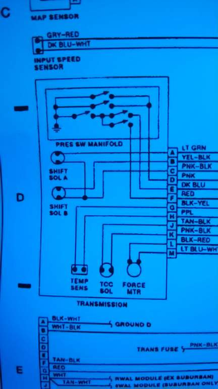 93 4l80e Mated With A 94 6 5 Wiring A Pcm Diesel Place